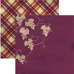 Rusty Pickle - French Market Collection - 12x12 Double Sided Paper - Raisin, CLEARANCE