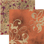 Rusty Pickle - French Market Collection - 12x12 Double Sided Paper - Fleur, CLEARANCE