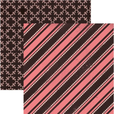 Rusty Pickle - Chocolate Kisses Collection - Valentine's Day - 12x12 Double Sided Paper - Hot Fudge, CLEARANCE