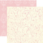 Rusty Pickle - White Chocolate Bunnies Collection - 12x12 Double Sided Paper - Carnation, CLEARANCE