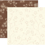 Rusty Pickle - White Chocolate Bunnies Collection - 12x12 Double Sided Paper - Spring Blossom