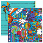 Rusty Pickle - Candy Land Collection - 12 x 12 Double Sided Paper - Candy Pop