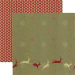 Rusty Pickle - White Christmas Collection - 12 x 12 Double Sided Paper - Night Before Christmas, BRAND NEW
