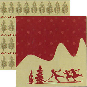 Rusty Pickle - White Christmas Collection - 12 x 12 Double Sided Paper - Winter Wonderland, BRAND NEW