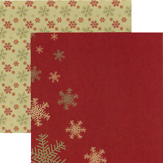 Rusty Pickle - White Christmas Collection - 12 x 12 Double Sided Paper - Let it Snow, BRAND NEW
