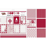Ruby Rock It Designs - Bella - Christmas Collection - 12 x 12 Paper Pack - Candy Cane
