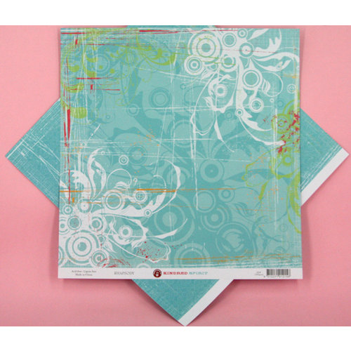 Ruby Rock It Designs - Kindred Spirit Collection - 12 x 12 Double Sided Paper - Rhapsody, CLEARANCE