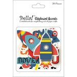Ruby Rock It Designs - Bella - Paper Boy Collection - Chipboard Pieces - Accents