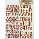 Ruby Rock It Designs - The Summerhouse Collection - Self Adhesive Chipboard Stickers - Alphabet - Orange, CLEARANCE