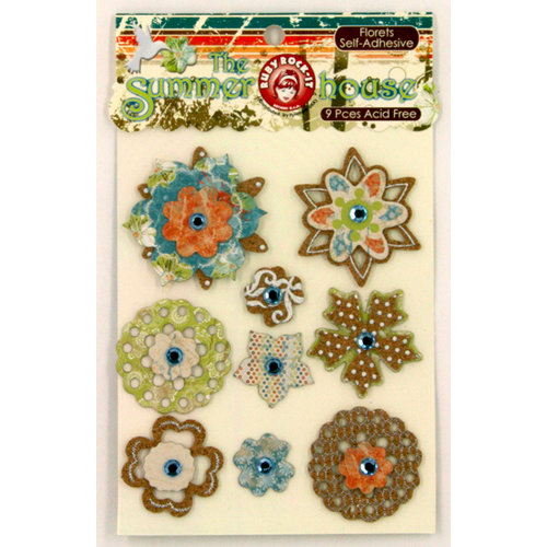 Ruby Rock It Designs - The Summerhouse Collection - 3 Dimensional Stickers - Florets, CLEARANCE