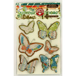 Ruby Rock It Designs - The Summerhouse Collection - 3 Dimensional Stickers - Flutterbies, CLEARANCE