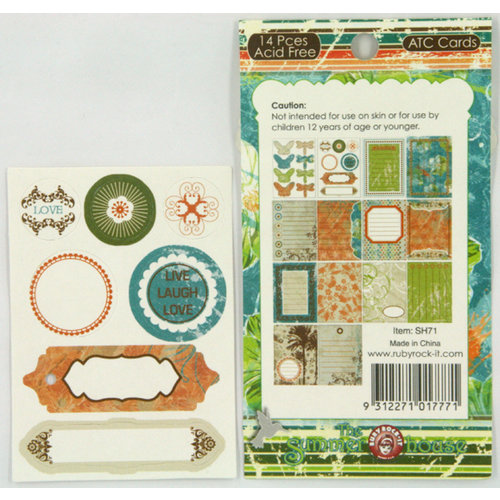 Ruby Rock It Designs - The Summerhouse Collection - ATC Cards