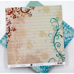 Ruby Rock It Designs - The Summerhouse Collection - 12 x 12 Double Sided Paper - Journal, CLEARANCE