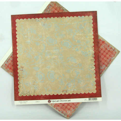 Ruby Rock It Designs - Upstairs Downstairs Collection - 12 x 12 Double Sided Paper - Emily, CLEARANCE