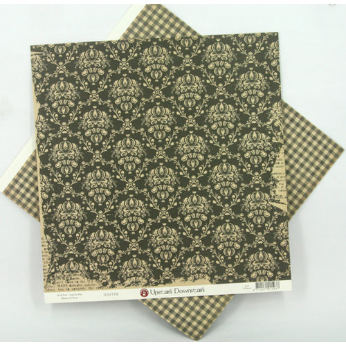 Ruby Rock It Designs - Upstairs Downstairs Collection - 12 x 12 Double Sided Paper - Master, CLEARANCE