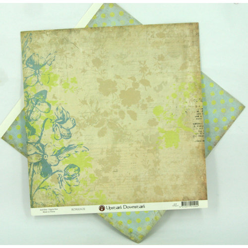 Ruby Rock It Designs - Upstairs Downstairs Collection - 12 x 12 Double Sided Paper - Romance, CLEARANCE