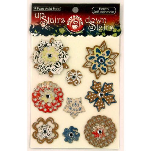 Ruby Rock It Designs - Upstairs Downstairs Collection - 3 Dimensional Stickers - Florets, CLEARANCE