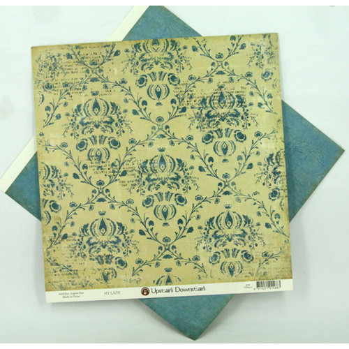 Ruby Rock It Designs - Upstairs Downstairs Collection - 12 x 12 Double Sided Paper - My Lady, CLEARANCE