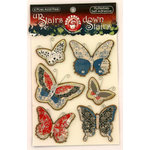 Ruby Rock It Designs - Upstairs Downstairs Collection - 3 Dimensional Stickers - Flutterbies, CLEARANCE