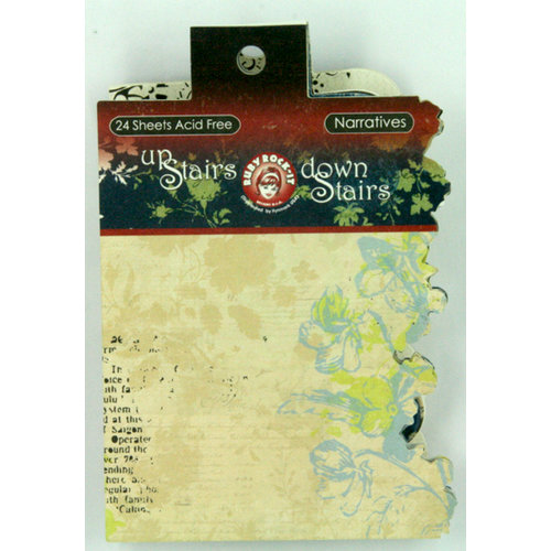 Ruby Rock It Designs - Upstairs Downstairs Collection - Narratives Journaling Pad, CLEARANCE