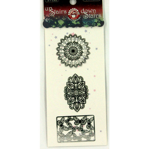 Ruby Rock It Designs - Upstairs Downstairs Collection - Metal Appliques, CLEARANCE
