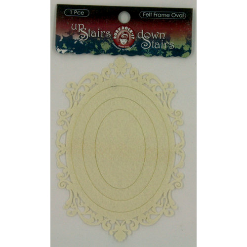 Ruby Rock It Designs - Upstairs Downstairs Collection - Felt Frames - Oval - Cream, CLEARANCE