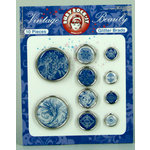 Ruby Rock It Designs - Vintage Beauty Collection - Glitter Brads, CLEARANCE