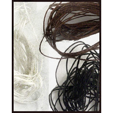 Royalwood Ltd. - Crawford Threads - Ply Waxed Linen Thread For Bookbinding - Kit - Black, Brown and White