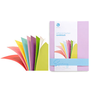 Silhouette America - 8.5 x 11 Self Adhesive Cardstock Pack - Spring