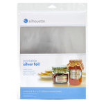 Silhouette America - 8.5 x 11 Self Adhesive Printable Foil Paper Pack - Silver