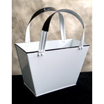 Scrapbook.com - Small Rectangle Basket Purse With Handle - White, CLEARANCE