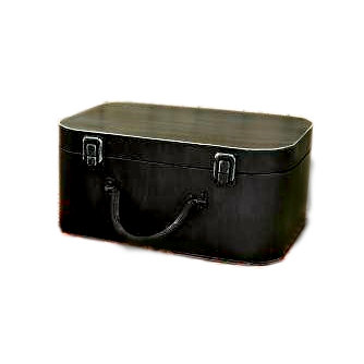 Scrapbook.com - Antique Black Tin Suit Case, CLEARANCE
