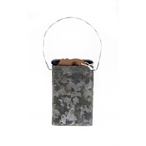 Scrapbook.com - Mini Galvanized Tin Gift Card Canister