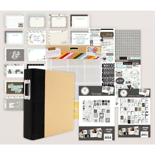 Simple Stories - SNAP Collection - Album Kit - Wedding (Scrapbook.com Exclusive)