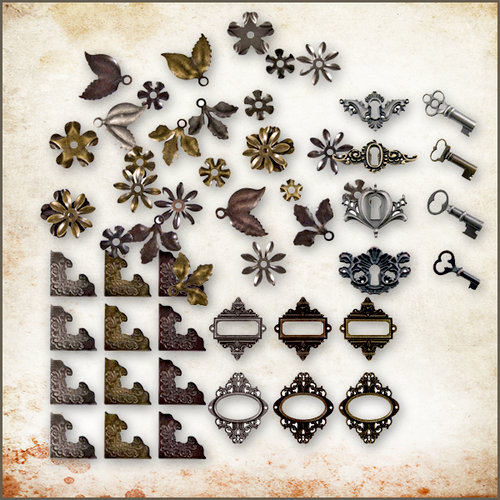 Tim Holtz - Idea-ology - Embellishment Kit - Vintage Metal Accents