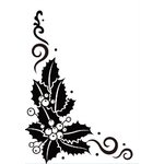 Gina Marie - Embossing Folder - 4 x 6 - Holly Corner