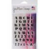Gina Marie - Clear Acrylic Stamps - USA Font