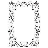 Gina Marie - Embossing Folder - 4 x 6 - Fancy Frame