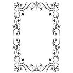 Gina Marie - Embossing Folder - 4 x 6 - Fancy Frame