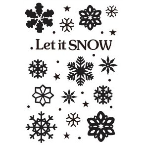 Gina Marie - Embossing Folder - 4 x 6 - Let It Snow