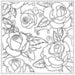 Gina Marie - Embossing Folder - 5 x 5 - Rose Garden