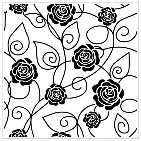 Gina Marie - Embossing Folder - 5 x 5 - Rose Vines
