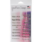 Gina Marie - Clear Acrylic Stamps - Birthday Words