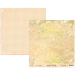 Scribble Scrabble - Naomi Collection - 12 x 12 Double Sided Paper - Pink Marble