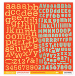 Studio Calico - Documentary Collection - 12 x 12 Cardstock Stickers - Alphabet
