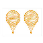Studio Calico - Documentary Collection - Rub Ons - Hot Air Balloon - Mustard, CLEARANCE