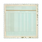 Studio Calico - Elementary Collection - 12 x 12 Die Cut Paper - Blue Ledger, CLEARANCE
