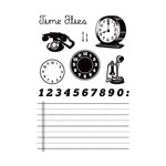 Studio Calico - Elementary Collection - Clear Acrylic Stamps - Time Flies