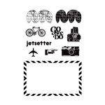 Studio Calico - Elementary Collection - Clear Acrylic Stamps - Jetsetter