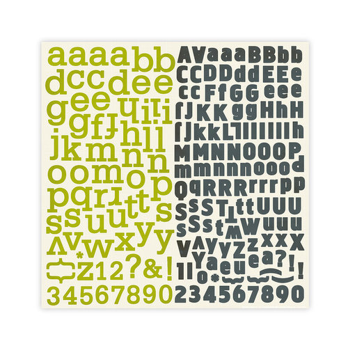 Studio Calico - Elementary Collection - 12 x 12 Cardstock Stickers - Alphabet, CLEARANCE